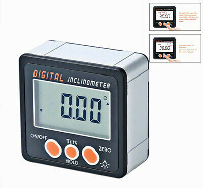 Pro Electronic Digital Inclinometer Protractor Bevel Box Angle Gauge Meter Ruler