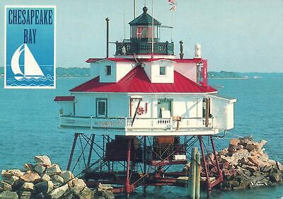 Thomas Point, Annapolis, Maryland, Chesapeake Bay Lighthouse Postcard