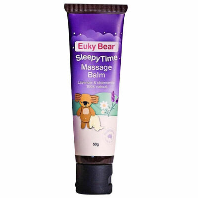 EUKY BEAR SLEEPY TIME MASSAGE BALM LAVENDER & CHAMOMILE 100% NATURAL OILS 50g
