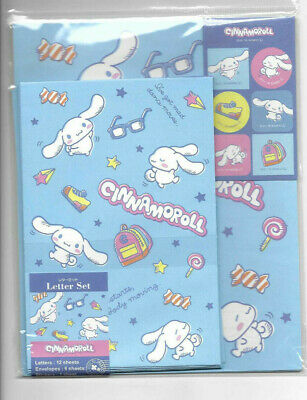 Sanrio Cinnamoroll Stationery Letter Set With Stickers 12 Sheets
