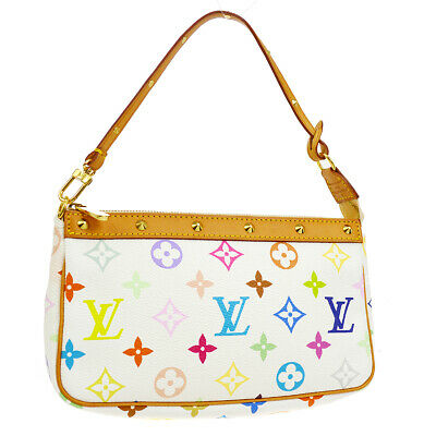 b5ada3a7654a3 Auth Louis Vuitton Pochette Accessoires Hand Bag Monogram Multi-Color O02479