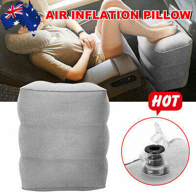 Inflatable Foot Rest Travel Air Pillow Cushion Office Home Leg Footrest Relax OZ