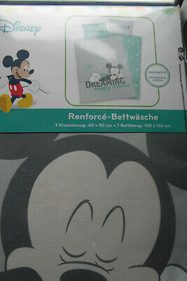 Disney Mickey Mouse Mickey Maus Baby Kinder Bettwäsche 2 Tlg 40x60
