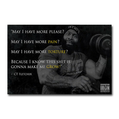 CT FLETCHER Bodybuilding Motivational Art Silk Poster 13x20 24x36 inch