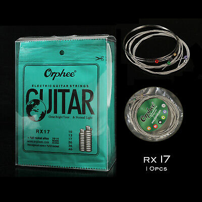 Orphee Strings RX Electric Guitar 6pcs/set×10 of Strings - RX17 Guitar Strings