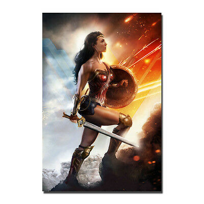 Style B With Text Credits 24x36 Wonder Woman Movie Poster