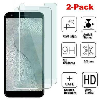 2Pcs For Google Pixel 3a XL 2.5D Clear 9H Tempered Screen Glass Protector Cover