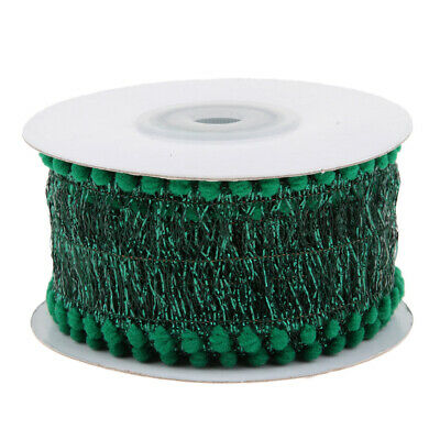 5 Yards/Roll (1.5inch Wide) Lace Pom Ribbon for Knitting and Handmade Sewing