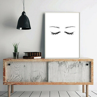 Close Eyes Face Abstract Poster Canvas Modern Minimalist Art Prints Wall Decor