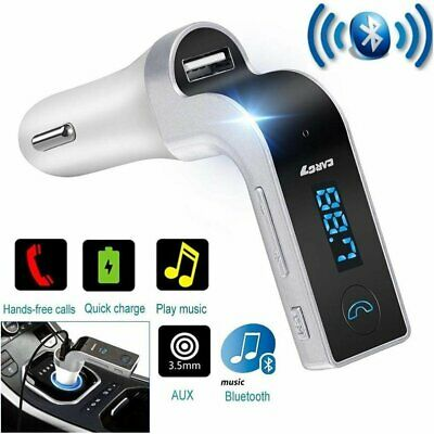 Kit Vivavoce Fm Sd Mp3 Usb Per Auto Bluetooth Smartphone Caricabatterie Tablet