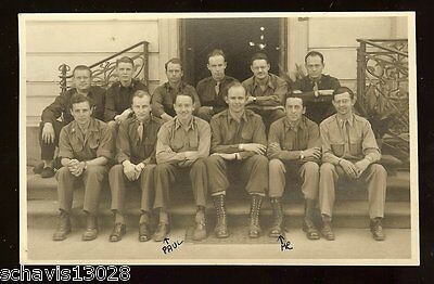 Military Soldiers Photo RPPC Paul and Me War Peace Time Rare Pic Postcard 120