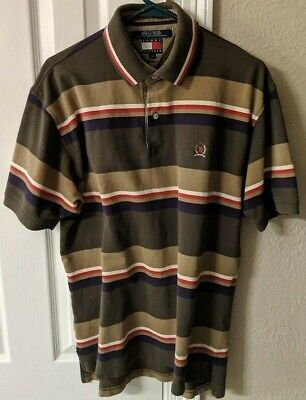 91552d717 Men's Tommy Hilfiger Vintage 90's Block Stripe Polo Shirt Multi Color Large  L