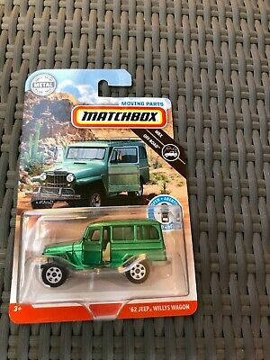 Matchbox 50th Anniversary 62 Jeep Willy's Wagon Moving Parts New 2019