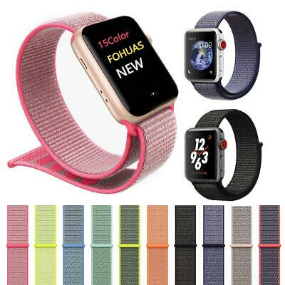 Recambio Pulsera Repuesto Nylon Correa Para Apple Watch 38/44Mm Iwatch Ajustable