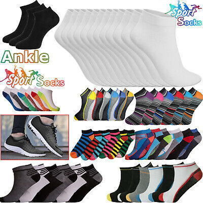 6 Pairs Women Men Trainer Liner Ankle Socks For Adult Sports Shoes Boot 6-11 Lot