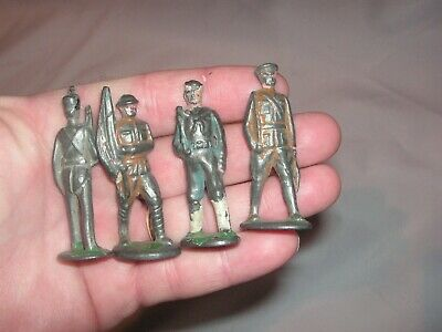 4 Old, 1920's-1930's ? Lead Toy Soldiers, Tommy Toy, Dimestore Toys, World War I