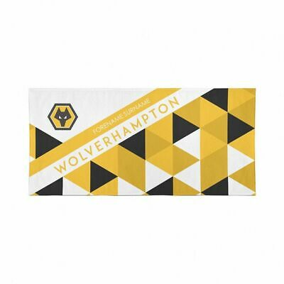 Wolverhampton Wanderers F.C. Beach Towel – Personalise with Any Name