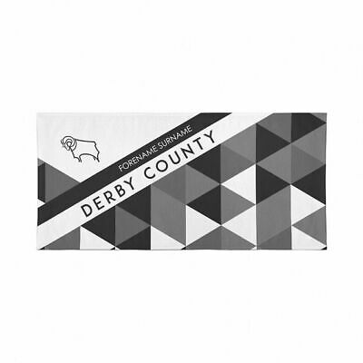 Personalised Derby County Towel   Microfibre Beach Towel   Licenced Product