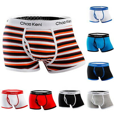 Men's Cotton Breathable Underwear Boxer Briefs Shorts Sexy Pouch Underpants JR15