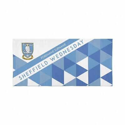 Personalised Sheffield Wednesday Towel | Microfibre Beach Towel | Fully Licenced
