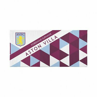 Personalised Aston Villa Towel | Microfibre Beach Towel | Licenced Product
