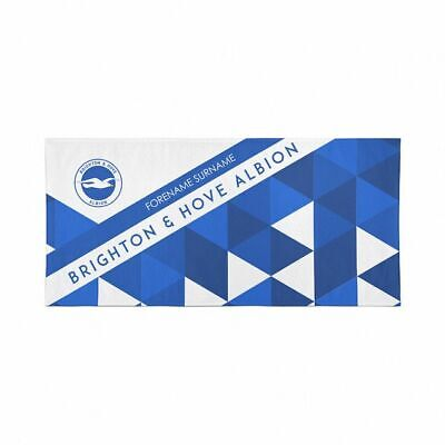 Brighton and Hove Albion Beach Towel – Personalise with Any Name
