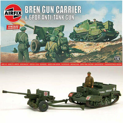 AIRFIX A01309V Bren Gun Carrier & 6pdr AT Gun Classics 1:76 Military Model Kit