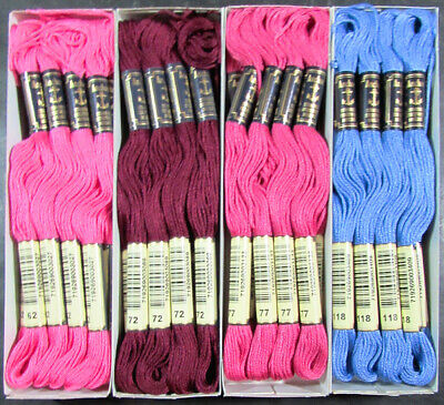 48x Needlepoint/Embroidery THREAD Anchor Cotton Floss-Pink/Purple-TX139