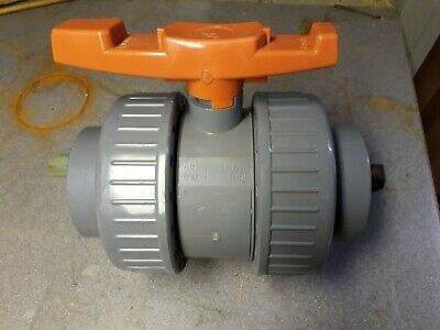 "3"" 3 Inch Double Union Solvent Weld Ball Valve Manual New"