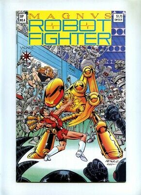 Magnus Robot Fighter #4 - Valiant 1991 - VFN - Incls Trading Cards - Rai Cameo