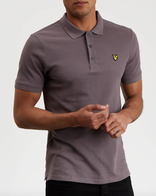 Lyle & Scott Plain Polo Shirt Col.pellican Grey Ss19 Casual Style Modernist Stor