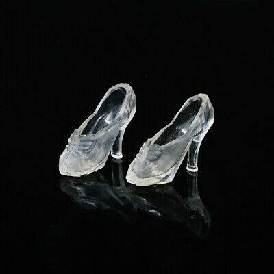 10 pairs white Crystal shoes Barbie doll Toy doll shoes For 30 cm Barbie doll