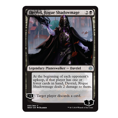 Rogue Shadowmage MTG War of the Spark U M//NM English x4 Davriel