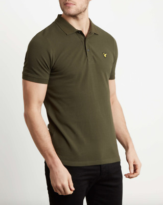 Lyle & Scott Plain Polo Shirt Col.dark Sage Ss19 Casual Style Modernist Store