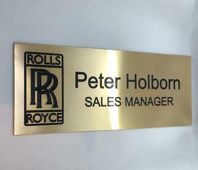 """Solid Polished Brass Plaque - 150 mm by 75 mm - 6"""" by 3"""" inch - Engraved"""