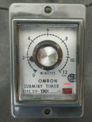 Omron STP-YMH 0-12 minutes Subminy Timer 240v (NEW)