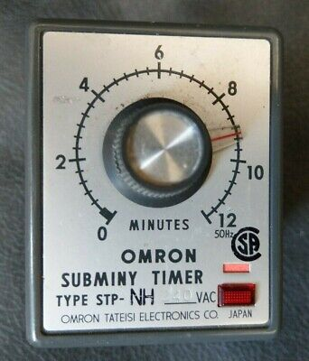 Omron STP-NH  0-12 Minute Subminy Timer 240v (NEW)