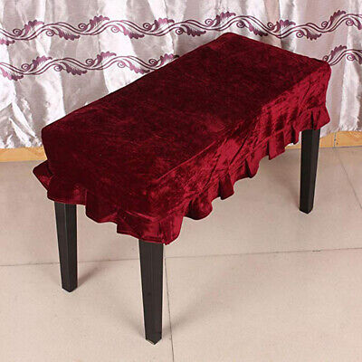 Piano Stool Chair Dustproof Protective Cover Pleuche Decorated with Macrame W