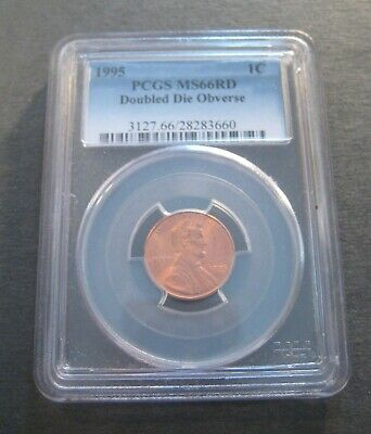 1995 Lincoln Cent DDO - PCGS MS66 RD - Doubled Die Obverse - (P1057)