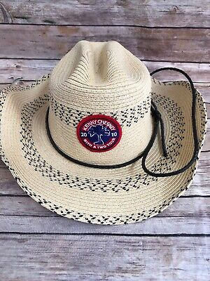 c4265df4128a1 Kenny Chesney WITH A TWO CONCERT TOUR Straw Hand-Shaped Cowboy Hat New
