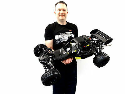 Rovan 45cc Gas, Petrol Buggy 1/5 Scale Ready to Run KM HPI Baja 5B Compatible