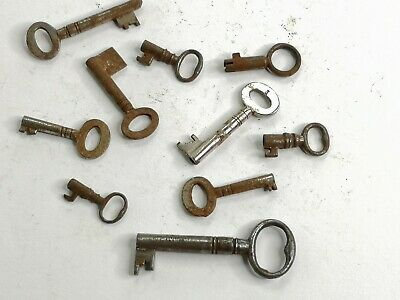 10 x Old Antique Vintage Keys Collector, Small, uncleaned Steampunk #0209