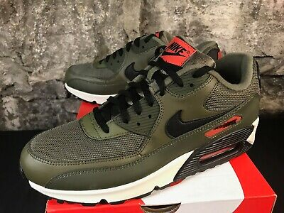 the latest 2cfdf b1a29 Nike Air Max 90 Essential AJ1285-205 Olive Black Orange New 2019 Men s Size  8