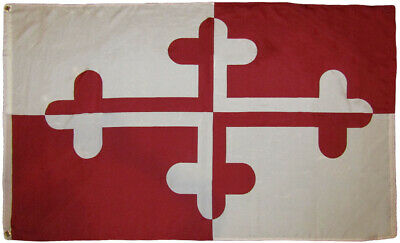 3x5 Maryland Historic Crossland Banner 3'x5' Rough Tex 100D Oxford Poly Flag