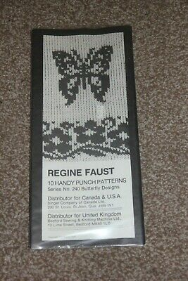 Regine Faust Butterfly 10 Handy Punch Patterns Machine Knitting Series No 240