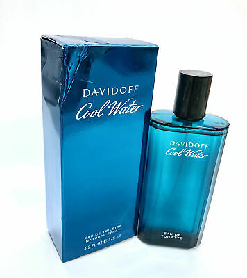 Cool Water for Men by Davidoff Eau de Toilette Spray 4.2 oz- New in Worn Box