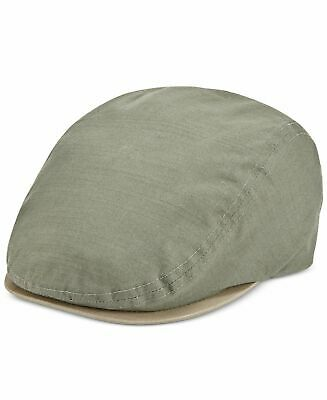 f99a852bf898a1 $95 Levi's Men's Olive Green Cotton Ivy Flat Top Hat Driving Cap Size ...