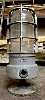 Vintage Crouse Hinds Industrial Explosion Proof Light Fixture W/ Mounting Plate