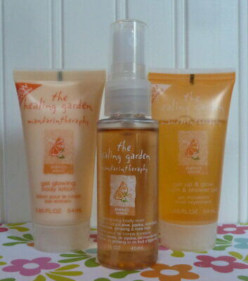 The Healing Garden Mandarin Theraphy Energizing Set Shower Gel Lotion Body Mist