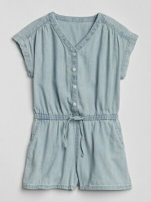 NWT BABY GAP GIRLS SHORTS denim romper shortalls  u pick size